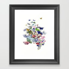 A flow of happiness Framed Art Print