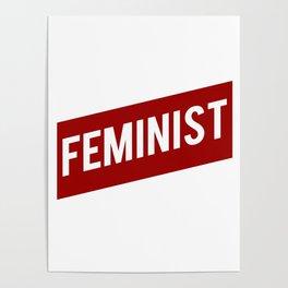 FEMINIST RED WHITE BANNER Poster