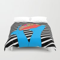 taco Duvet Covers featuring Taco Time by Tyler Spangler