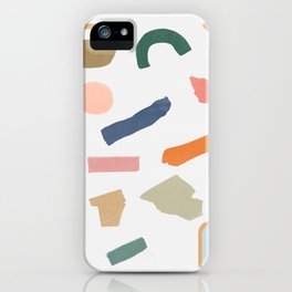 Mix of color shapes happy artwork iPhone Case