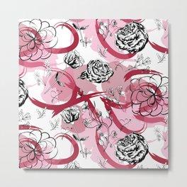 Pink Mad garden Metal Print