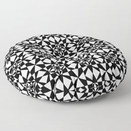 black and white symetric patterns 6- bw, mandala,geometric,rosace,harmony,star,symmetry Floor Pillow
