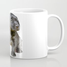 Adorable and Cute Black Labrador Puppy Vector Coffee Mug
