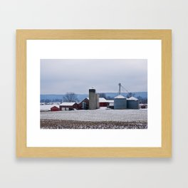 Winter's Farm Framed Art Print