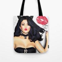 selena Tote Bags featuring Selena Gomez  by Justinhotshotz