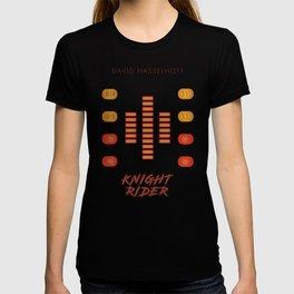 Knight Rider, David Hasselhoff, minimalist poster, supercar, El Coche fantastico, 80s tv show, KITT T-shirt