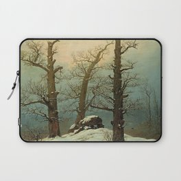 Caspar David Friedrich - Dolmen in Snow - Cairn in Snow - Hünengrab im Schnee Laptop Sleeve
