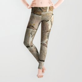 old quarry stone wall Leggings