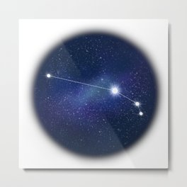 Aries horoscope zodiac sign constellation Metal Print