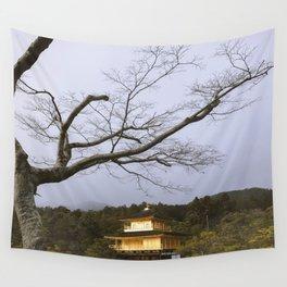 Golden Pavillion in Kyoto, Japan Wall Tapestry