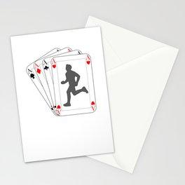 Runner Poker Cards I Gift for Gambler and Running Stationery Cards