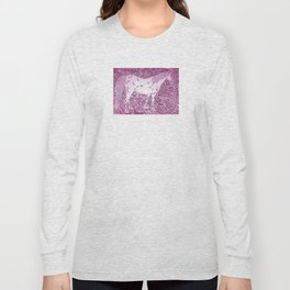 Abstract Silver Long Sleeve T-shirt