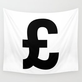 Pound Sign (Black & White) Wall Tapestry