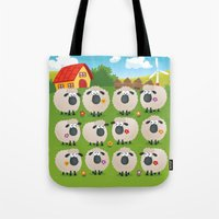 sheep Tote Bags featuring Sheep by Elle Moz