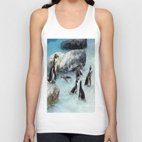 penguins Tank Tops featuring Penguins. by paulette hurley