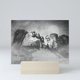 Rushmore at Night Mini Art Print