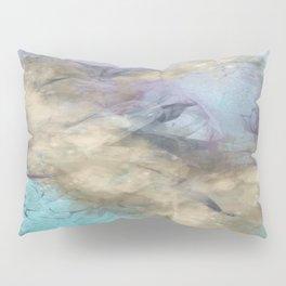 Teal, Purple, Gold Geode Pillow Sham