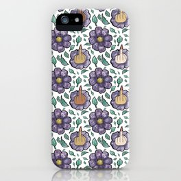 bad flower iPhone Case
