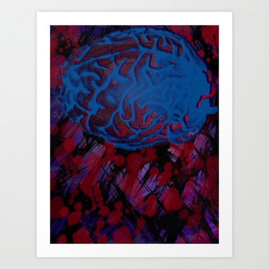 Synapses Firing Art Print