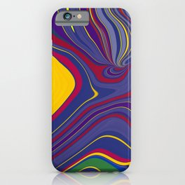 CRAY - vivid rich jewel primary color block design iPhone Case
