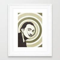 salvador dali Framed Art Prints featuring Salvador Dali by Kristjan Lyngmo