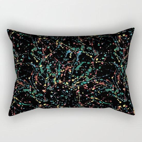 Splat Color Black R Rectangular Pillow