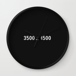 3000x2400 Placeholder Image Artwork (Squarespace Black) Wall Clock