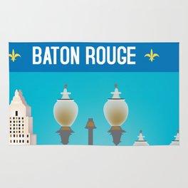 Baton Rouge, Louisiana - Skyline Illustration by Loose Petals Rug