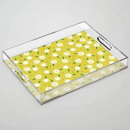 spring, yellow Acrylic Tray