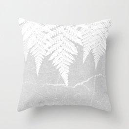 Fern fringe - concrete Throw Pillow