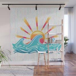 Sunrise Surf Wall Mural