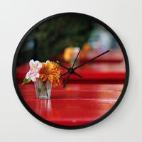 aperture Wall Clocks featuring The red table by Nina's clicks