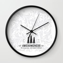 Awesomeness Wall Clock