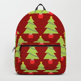 Red Christmas Trees Backpack