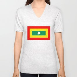 cartagena region flag Colombia country Unisex V-Neck