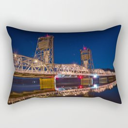 Stillwater MN Lift Bridge at Night Rectangular Pillow