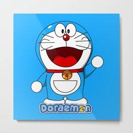 Doraemon cute smile 3 Metal Print