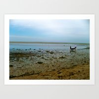 cape cod Art Prints featuring Cape Cod  by Julia Blanchette