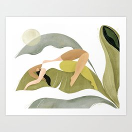 Banana palm Art Print