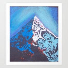 Everest at Sunset Art Print