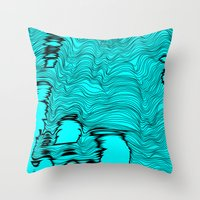 catcher in the rye Throw Pillows featuring Lineart Rye by Hollis Campbell