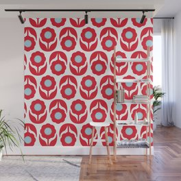 Joy collection - Red flowers Wall Mural