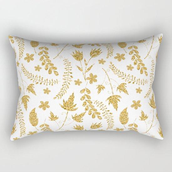 Gold flowers Rectangular Pillow