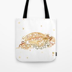All the world's a stage Shakespeare Illustration Tote Bag