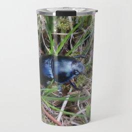 Black Beetle portrait Travel Mug