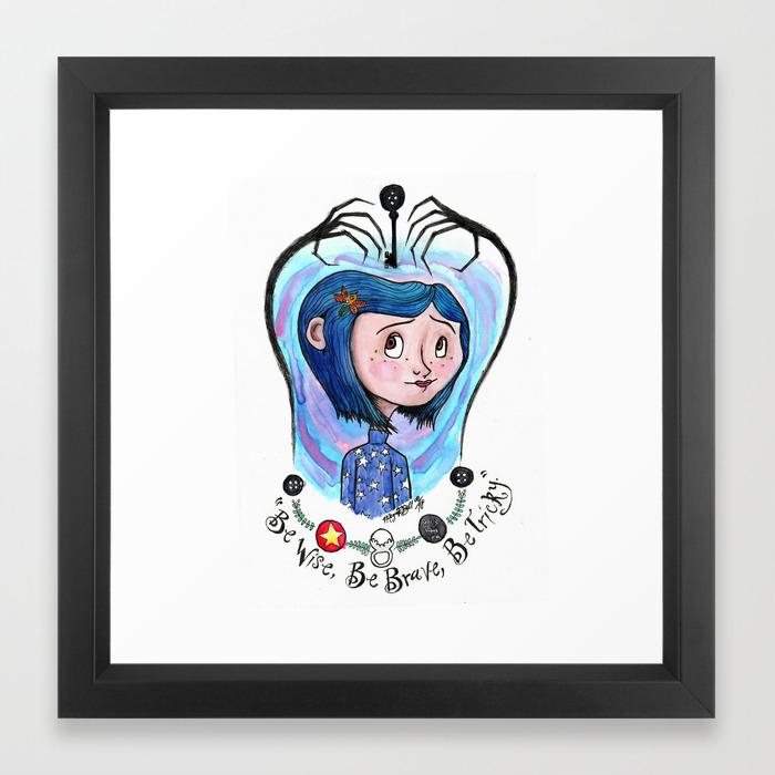 Coraline Jones Framed Art Print By Meganelizabethart13 Society6