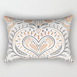 Rose Gold Folklore Pattern Rectangular Pillow