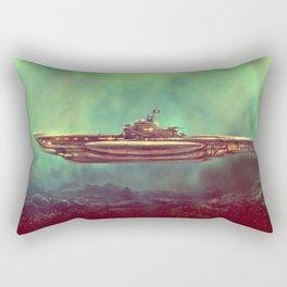 Golden Pirate Submarine Rectangular Pillow