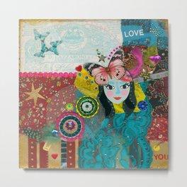 Paper Dollies - Viola Metal Print