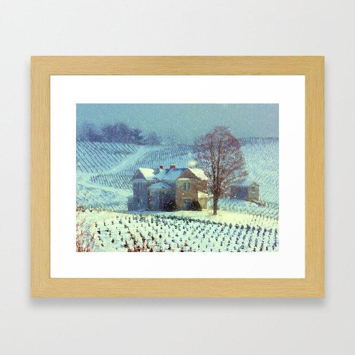 A Winter Place Framed Art Print